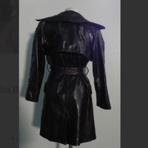 😍 RARE AUTH VTG Marc Jacobs brown leather coat😍
